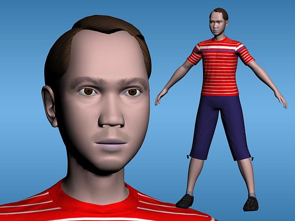 Male Digital Art - 3d Self Portrait by Henry Lazaga