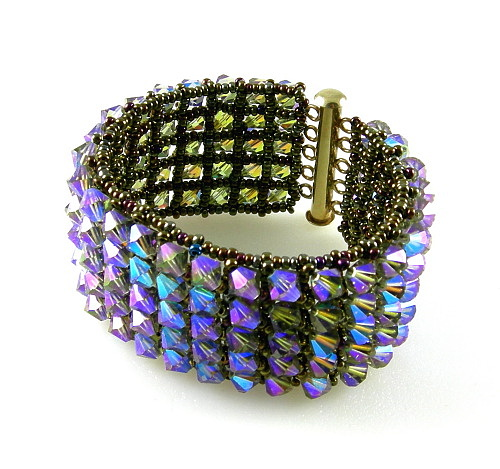 Bead Weaving Jewelry - 3fine Design Legacy Cuff by Tracy Behrends