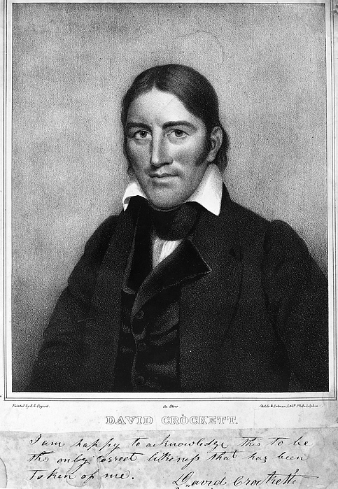 1830 Photograph - Davy Crockett (1786-1836) by Granger