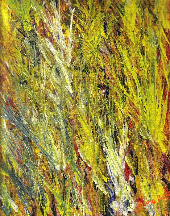 Yellow Painting - Foliage by Hema Rana