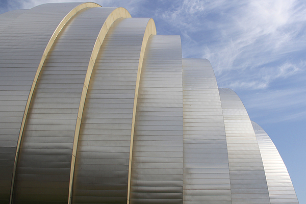 Abstract Building Photograph - Kauffman Center For Performing Arts by Mike McGlothlen