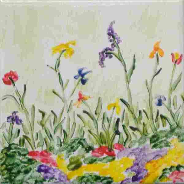 Painted Ceramic Tile Painting by Joyce Kerr
