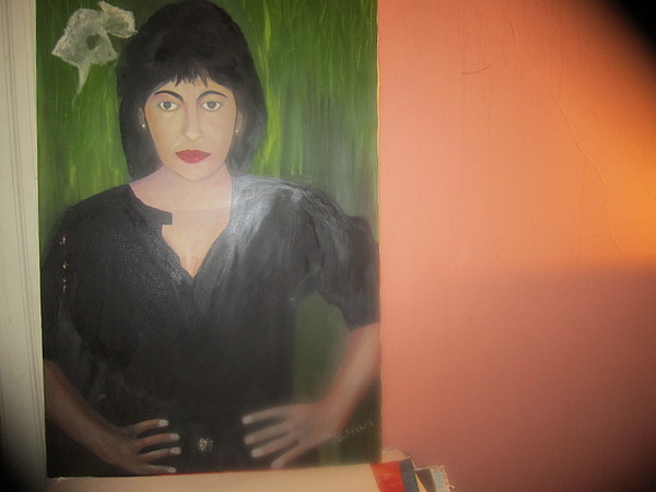 Artist Painting - Self Portrait 4 by Zeenath Diyanidh