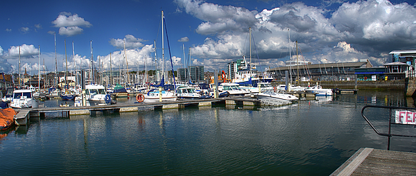 Plymouth Photograph - Sutton Harbour Plymouth by Chris Day