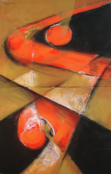 Abstract Painting - Untitled by Sagar Talekar
