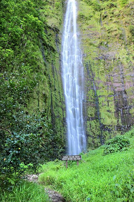 Falls Photograph - 400 Foot Waimoku Falls Maui by Pierre Leclerc Photography