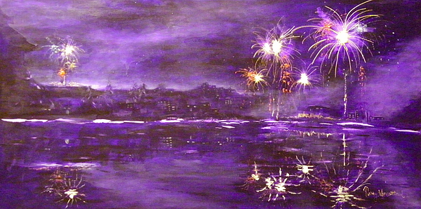 4th Of July Painting - 4rh Of July Celebration by Terry Honstead