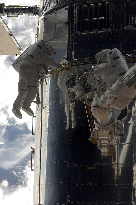 Sts-125 Photograph - Astronauts Participate by Stocktrek Images