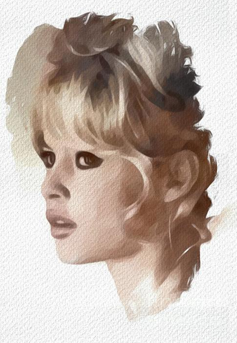 Brigitte Painting - Brigitte Bardot, Actress by Mary Bassett