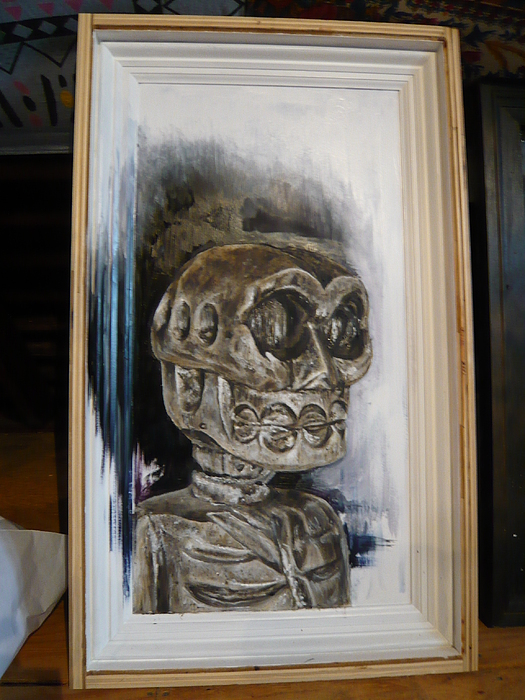 Skeleton Painting - Untitled by Travis Pulver