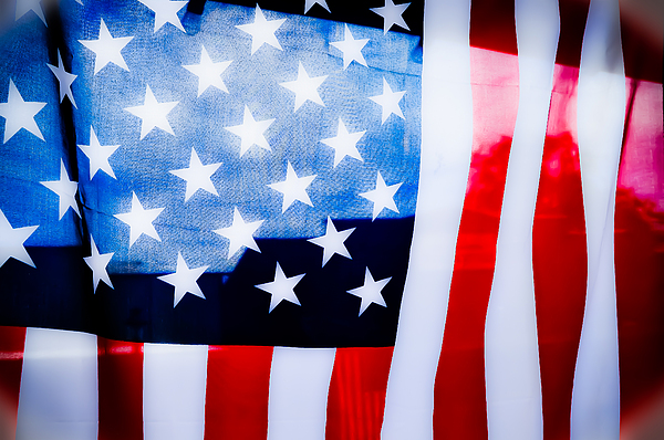 American Flag Photograph - 50 Stars 13 Bars by Keith Sanders
