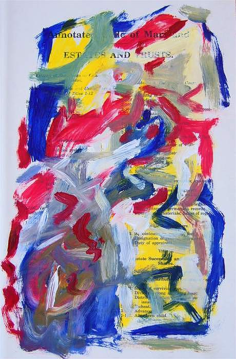 Abstract Painting - Abstract On Paper No. 26 by Michael Henderson