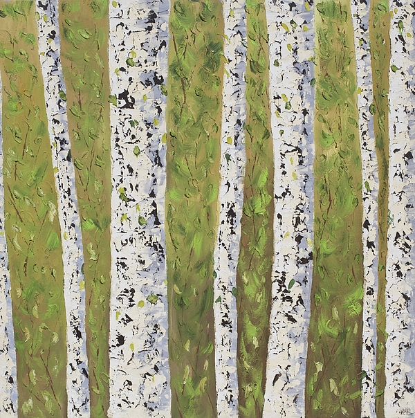 Landscape Painting - Aspen Trees Colorado by Frederic Payet