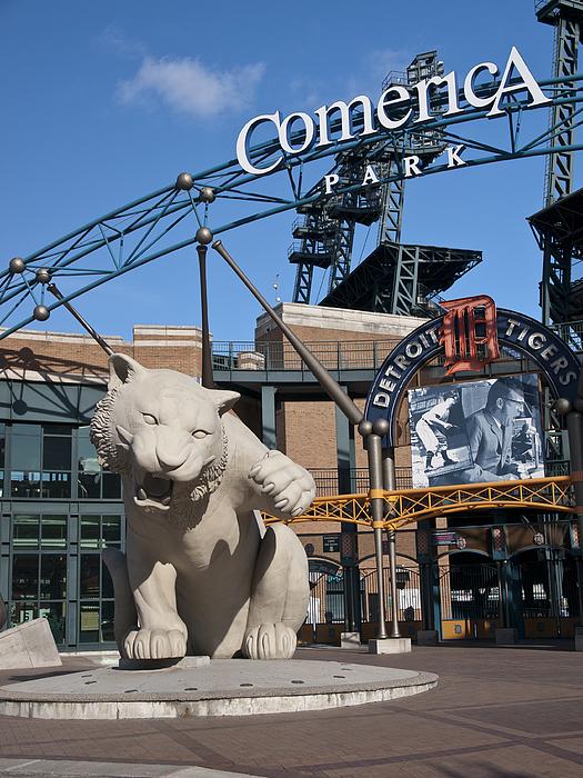 Detroit Tigers Photograph - Comerica Park by Cindy Lindow