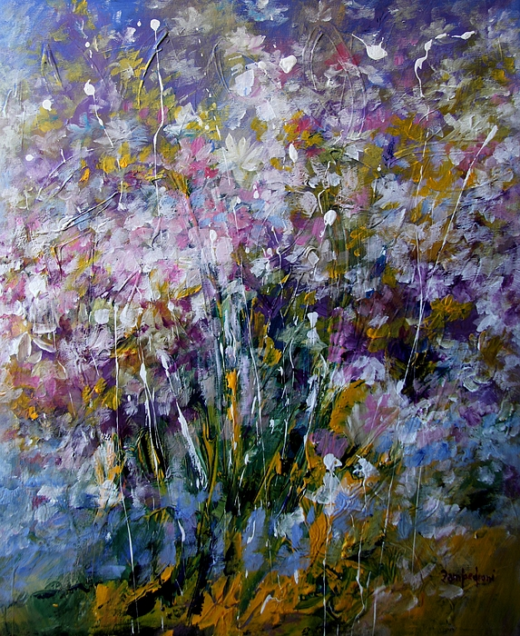 Flowers Painting - Flowers by Mario Zampedroni