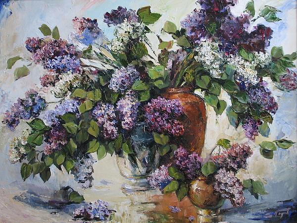 Lilacs Painting by Tigran Ghulyan