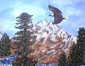 Eagle Nest Painting - Eagle To Eaglets In Nest by Tanna Lee Wells