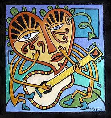 Guitar Painting - Sing A Love Song To Yourself by Lynn  Reeder