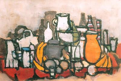Jar Painting - 6bodyplatano by Juan Luis Quintana