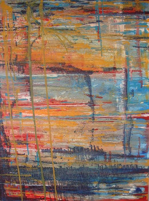 Fireworks Painting Painting - 7-4-miami by Jared  Kocak