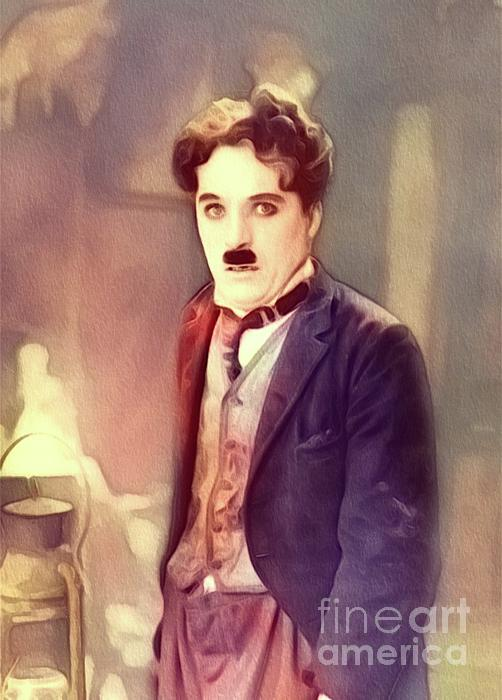 Charlie Painting - Charlie Chaplin by John Springfield