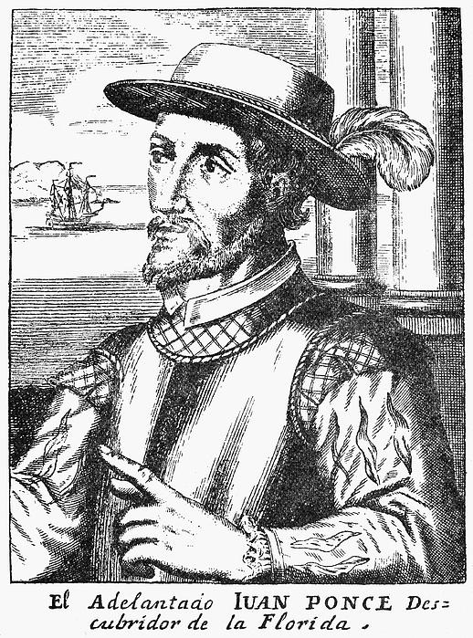15th Century Photograph - Juan Ponce De Leon by Granger