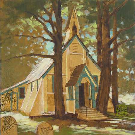 Saanich Painting - Country Church - IIi by Ken Campbell