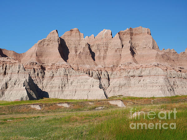 Vegetation Photograph - Badlands National Park South Dakota by Louise Heusinkveld