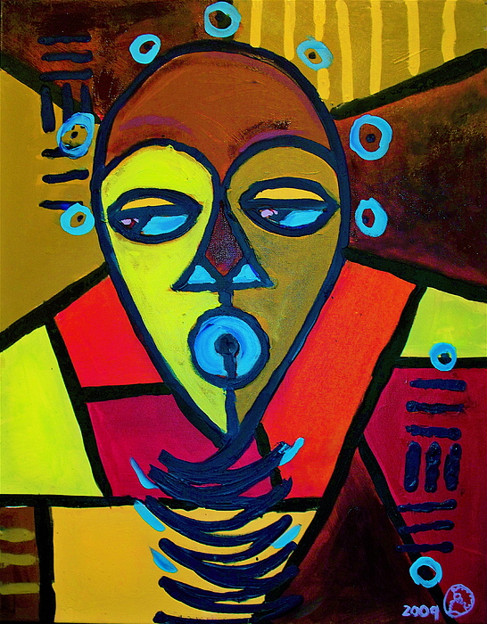 Malik Painting - From The Hill And Beyond by Malik Seneferu