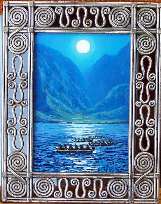 Moonlight Canoe Club Painting by Steven Welch