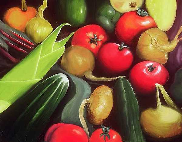 Reds Painting - Produce by Sam  Cole