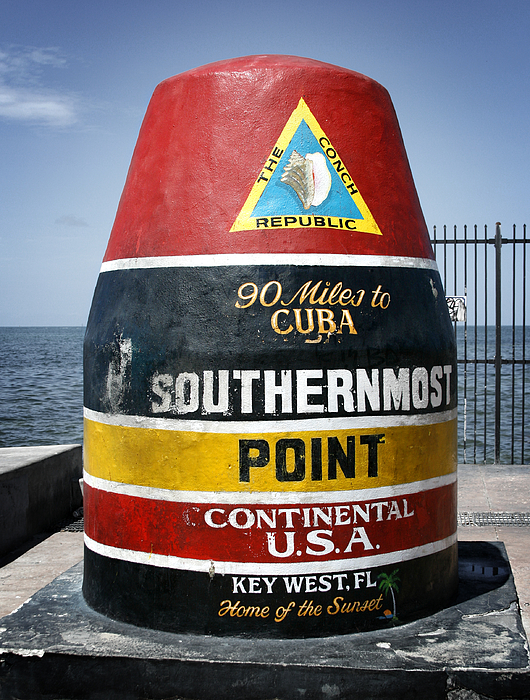 Key West Photograph - 90 Miles by Shane Rees