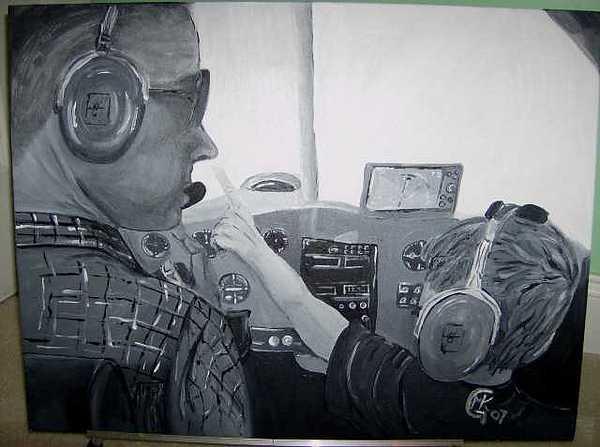 Pilot Painting - My Little Pilot by Michaela Gilt