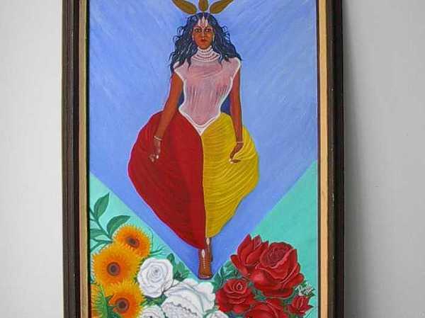 La Reina De La Rosa Painting by Carmelo  Prado