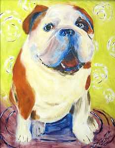 Bulldog Painting - Bulldog by Cherri Lamarr
