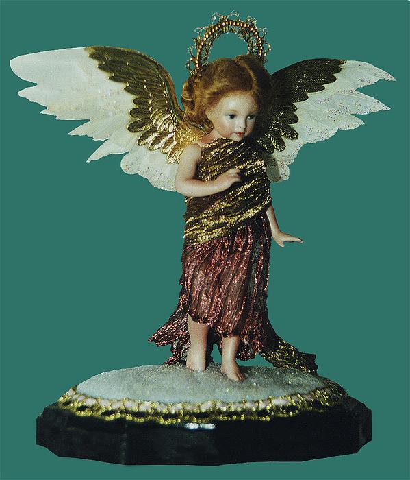 Angel Ceramic Art - 99md039 - Poppetangel by Shirley Heyn