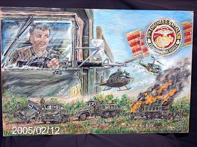 9th Marine Engineers  16 X 20 Original Berol Prisma Colored Pencils Drawing by James Beal