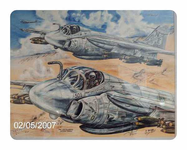 A-6s Desert Storm Va-145 Drawing by James Beal