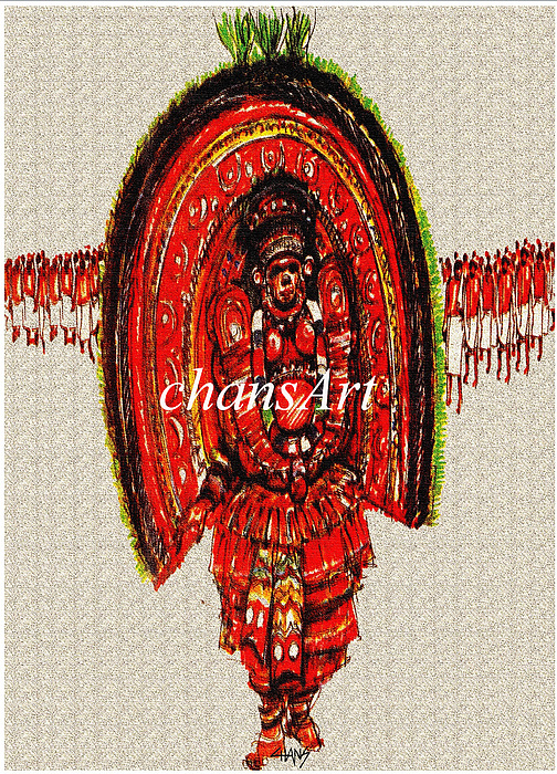 Painting Painting - A 95 by Chandrasekharan Chans