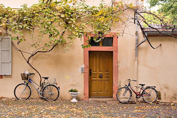 Travel Photograph - A Back Lane In Speyer by Louise Heusinkveld