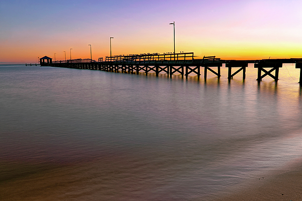 Biloxi Mississippi Photograph - A Biloxi Pier Sunset - Mississippi - Gulf Coast by Jason Politte