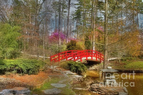 Sarah Duke Gardens Photograph - A Bridge To Spring by Benanne Stiens