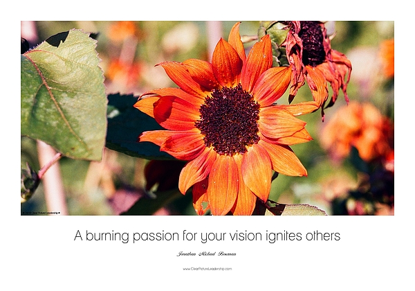 A Burning Passion For Your Vision Ignites Others Photograph by Jonathan Michael Bowman