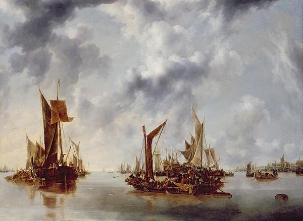 Calm Painting - A Calm by Jan van de Capelle