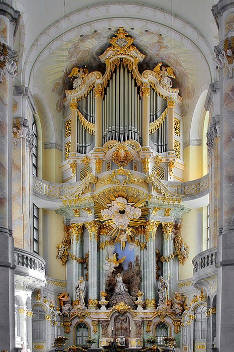 Organ Photograph - A Church Filled With Music - Church Of Our Lady Dresden by Christine Till