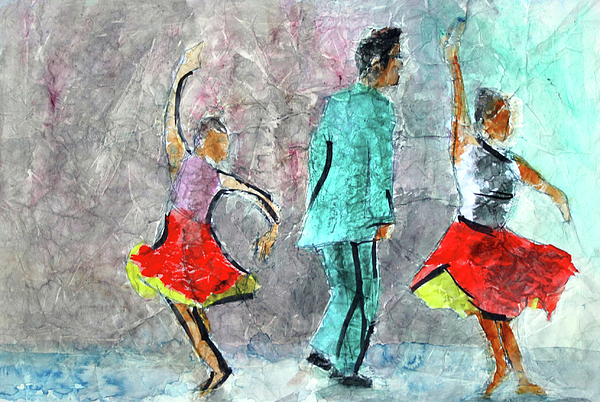 Dance Series Painting - A Dance For Three by Donna Crosby