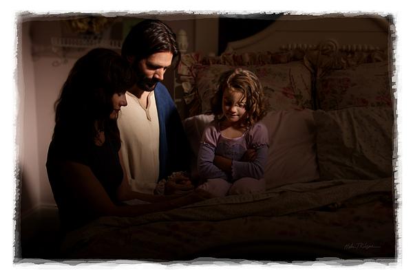Prayer Photograph - A Daughters Prayer by Helen Thomas Robson
