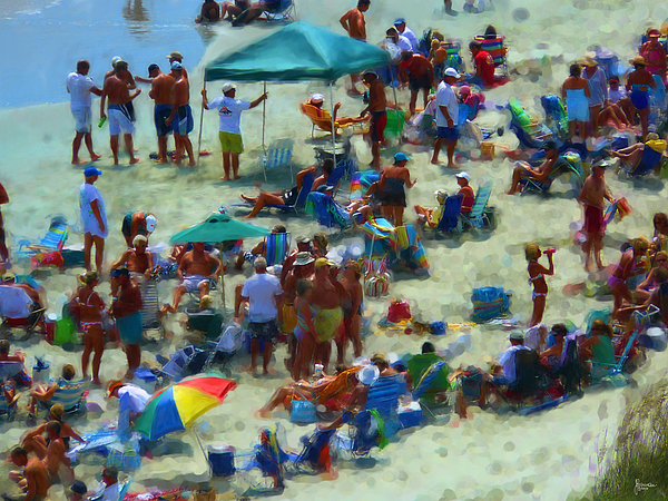 Beach Photograph - A Day At The Beach by Jeff Breiman