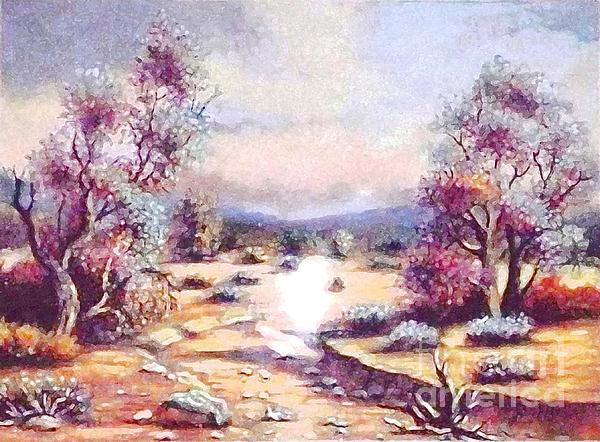 Wilderness Pastel - A Door Of Hope  by Hazel Holland