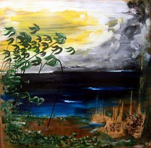 A Faint Place Deep In Painting by Nathan Paul Gibbs